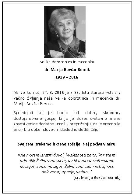 MArija Bevcar Bernik
