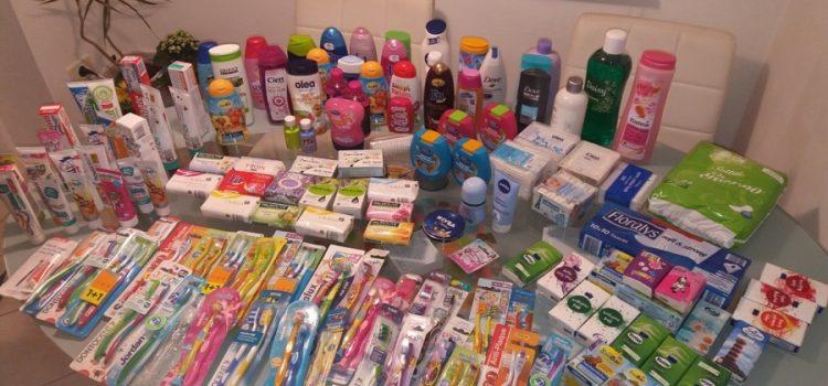 Zbiralna akcija čistil in pripomočkov za osebno higieno