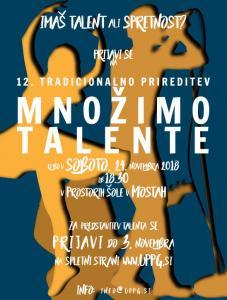 množimo talente - poster